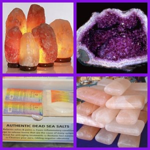 Meditation lamps, Himalayan sea salt, Soaps and cleansing bars, Bath salts